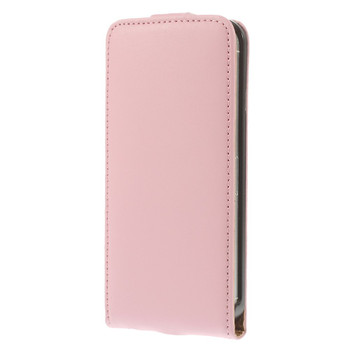 iPhone SE Leather Flip Case Soft Pink