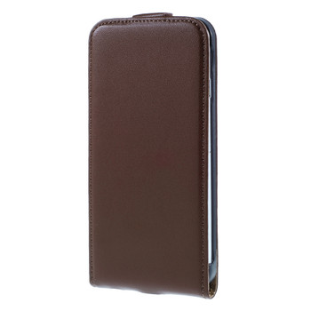 iPhone 6S 6 Leather Flip Case Brown