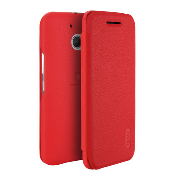 HTC 10 Soft Slim Flip Cover Case Red