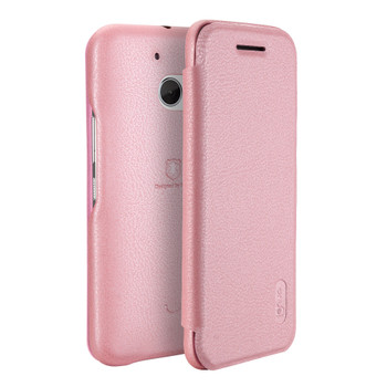 HTC 10 Soft Slim Flip Cover Case Pink