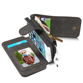iPhone SE Leather Wallet Case-8 Card Slots