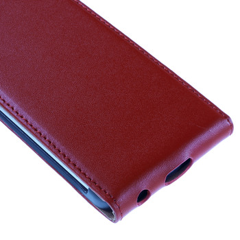 iPhone 6S 6 Leather Flip Case Red