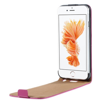 iPhone 6S 6 Leather Flip Case Deep Pink