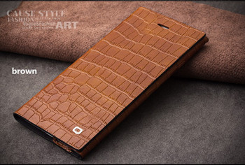 Qialino iPhone 6S 6 Real Leather Crocodile Case