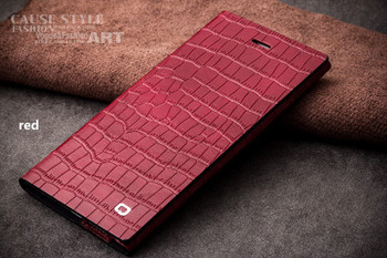 Qialino iPhone 6S 6 Real Leather Crocodile Case Red