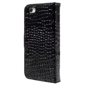 iPhone SE Crocodile Style Wallet Case