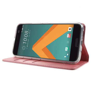 HTC 10 Wallet Flip Cover Case Pink