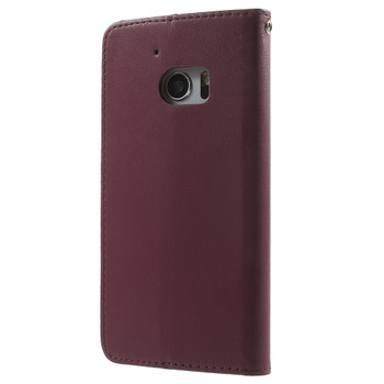 HTC 10 Wallet Flip Cover Case Maroon Red