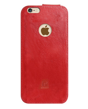 iPhone 6S 6 Real Leather Wrap Case Pouch Red