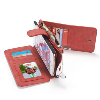iPhone 6S 6 Leather Wallet Case Red-14 Card Slots