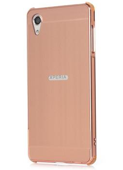 Sony Xperia X Aluminum Bumper Case+Back Cover Rose Gold