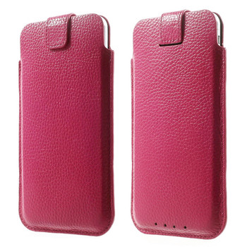 iPhone 7 Plus Leather Pouch Pink