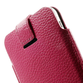 iPhone 7 PLUS Real Leather Pouch Case Pink