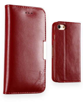 iPhone 7 Premium Leather Case Wallet Red