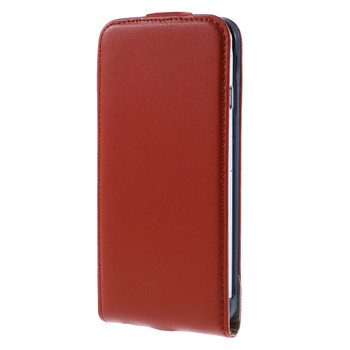 iPhone 7 Leather Flip Case Red