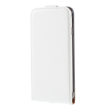 iPhone 7 Leather Flip Case White