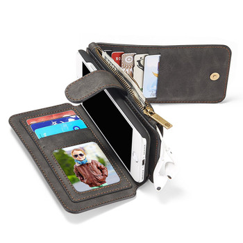 iPhone 7 Leather Wallet Case Cover-14 Card Slots