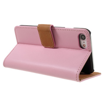 iPhone 7 PLUS Leather Wallet Case Soft Pink