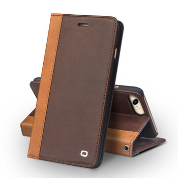 Qialino iPhone 7 Book Folio Wallet Luxury Leather Case