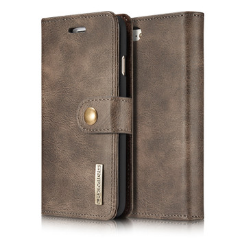 iPhone 7 Leather Wallet With Removable Case Coffee