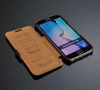 Samsung Galaxy S6 Leather Flip Cover Brown