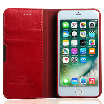 iPhone 7 PLUS Premium Leather Wallet Case Red