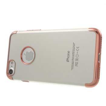 iPhone 7 Bumper Case Rose Gold with Clear Back