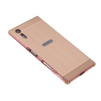 Sony Xperia XZ Aluminum Bumper Frame Case+Back Cover Rose Gold