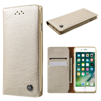 iPhone 7 Leather Cover Gold
