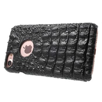 iPhone 7 Crocodile Case Genuine Leather Black