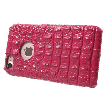 iPhone 7 Crocodile Case Genuine Leather Pink
