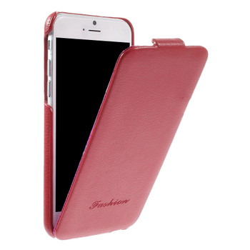 iPhone 7 Leather Flip Slim Cover Red