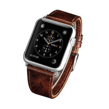 Apple Watch 42mm Series 3 2 1 Genuine Leather Strap Wristband