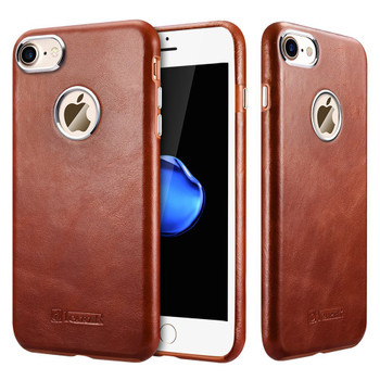 iCarer iPhone 7 Vintage Leather Case Brown