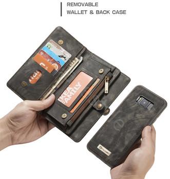 Samsung Galaxy S8+[Plus] Zipper Wallet Card Cash Storage Case