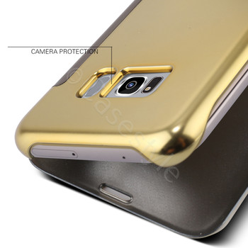 Samsung Galaxy S8 Smart Wake Sleep Case Cover Gold