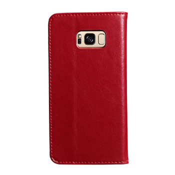 Samsung Galaxy S8 Premium Leather Wallet Case Red