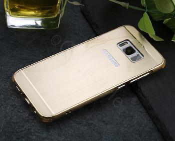 Samsung Galaxy S8 Aluminum Metal Bumper Case Gold