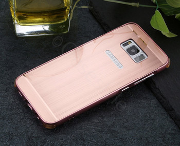 Samsung Galaxy S8 Aluminum Bumper Case Rose Gold