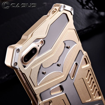 iPhone 7 Rugged Aluminum Steel Armor Case Gold