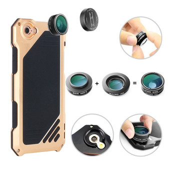 iPhone 7 Shockproof Interchangeable Lens Case Gold