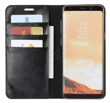 Samsung Galaxy S8 Genuine Leather Case Crazy Horse Wallet