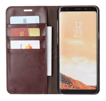 Samsung Galaxy S8 Genuine Leather Case Crazy Horse Chestnut