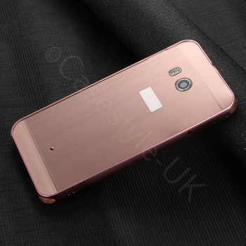 HTC U11 Aluminum Bumper Case Cover Rose Gold
