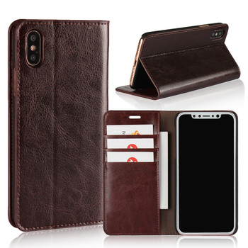 iPhone X Leather Wallet Men