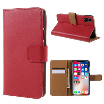 iPhone X Wallet Case Red