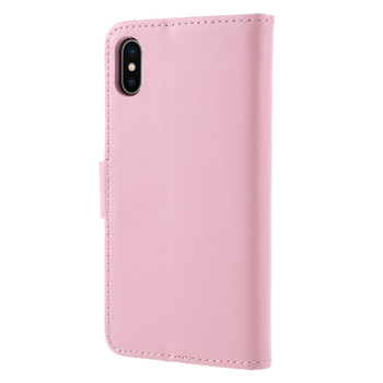 iPhone X Leather Case Wallet Pink