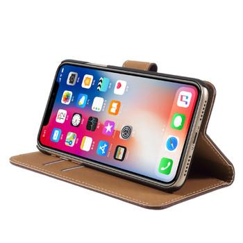 iPhone X Leather Case Dark Brown