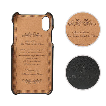 iPhone X Leather Back Case Cover