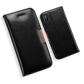 iPhone X Premium Leather Cover Case